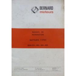 Bernard-Moteurs BDA 375, 482, 565, 605, manuel de réparation