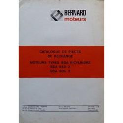 Bernard-Moteurs BDA 540-2 et 605-2, catalogue de pièces