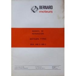Bernard-Moteurs BDA 540-2 et 605-2, manuel de réparation