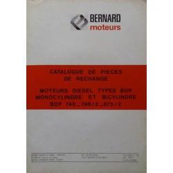 Bernard-Moteurs BDP 746, 746-2, 875-2, catalogue de pièces