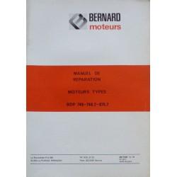 Bernard-Moteurs BDP 746, 746-2, 875-2, manuel de réparation