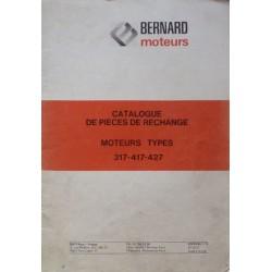Bernard-Moteurs 317, 417, 427, catalogue de pièces