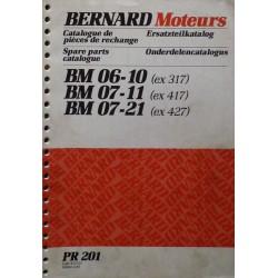 Bernard-Moteurs BM 06-10, 07-11, 07-21, catalogue de pièces