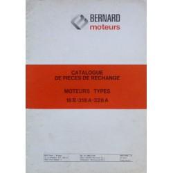Bernard-Moteurs 18B, 318A, 328A, catalogue de pièces