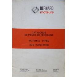 Bernard-Moteurs 39B, 239B, 249B, catalogue de pièces