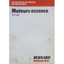 Bernard-Moteurs 717 et 727, catalogue de pièces