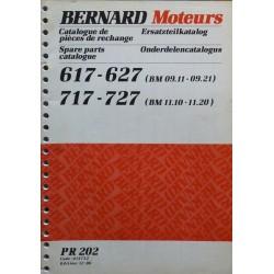 Bernard-Moteurs BM 09-11, 09-21, 11-10, 11-20, catalogue de pièces