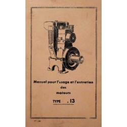 Bernard-Moteurs W13, notice d'entretien et catalogue de pièces