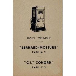 Bernard-Moteurs K2 et Conord Y2, notice d'entretien