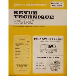 RTD Peugeot J7 Diesel et moteur Indénor XD, XDP