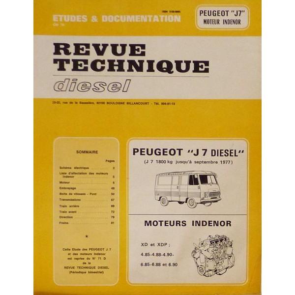 rtd peugeot j7 diesel et moteur ind nor xd xdp. Black Bedroom Furniture Sets. Home Design Ideas