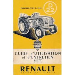 Renault D22 (R7052), notice d'entretien