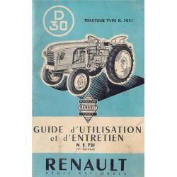 Renault D30 (R7051), notice d'entretien
