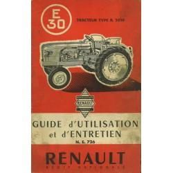 Renault E30 (R3050), notice d'entretien