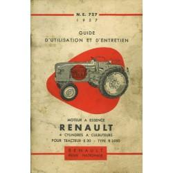 Renault E30 (R3050), notice d'entretien moteur type 668 4cyl.