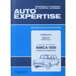 Auto Expertise Simca 1000, Rallye 1 et Rallye 2