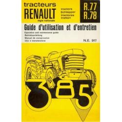 Renault 385 (R77 et R78), notice d'entretien