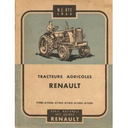 Renault R3046, R7012, R7013, R7022 et R7023, notice d'entretien