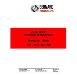 Bernard-Moteurs 110C, 110TC, 610C, 810, catalogue de pièces