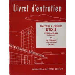 McCormick International DTD-5, notice d'entretien