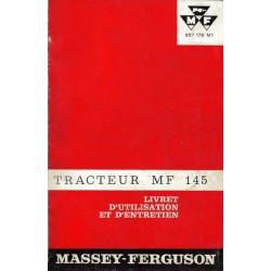 Massey Ferguson 145, notice d'entretien