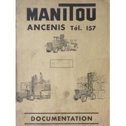 Manitou MB1500, catalogue de pièces et graissage