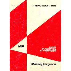 Massey Ferguson 158, notice d'entretien