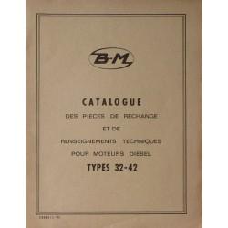 Bernard-Moteurs moteur diesel 32 et 42, catalogue de pièces et réglages