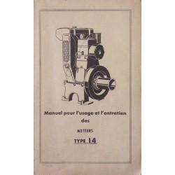 Bernard-Moteurs w14, notice d'entretien et catalogue de pièces