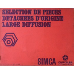 Simca 1950-70, catalogue de pièces de large diffusion