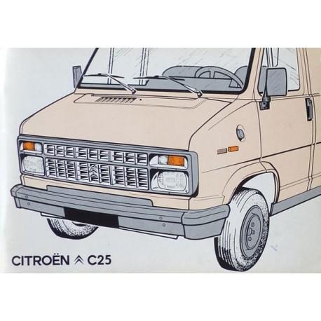 notice d 39 entretien citro n c25 essence et diesel. Black Bedroom Furniture Sets. Home Design Ideas