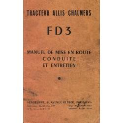 Allis Chalmers FD3 et FD3 eau, notice d'entretien