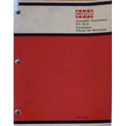 Case 33 et 33S, catalogue de pièces chargeur et excavateur