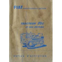 Fiat 25C et dérivés, notice d'entretien