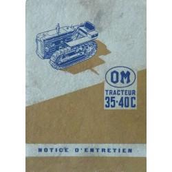 OM 35-40C, notice d'entretien