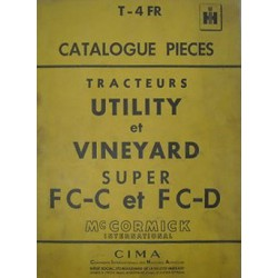 McCormick Super FC-C, Super FC-D, catalogue de pièces