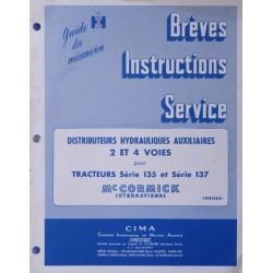 McCormick série 135, 137, manuel de réparation distributeurs auxiliaires