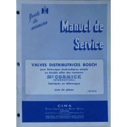 McCormick fabrication Allemande, manuel de réparation valves distributrices