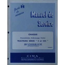 McCormick série C et 235, manuel de réparation châssis
