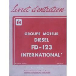 McCormick moteur FD-123, notice d'entretien