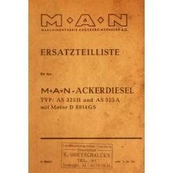 MAN Akerdiesel AS 325H et AS 325A, catalogue de pièces