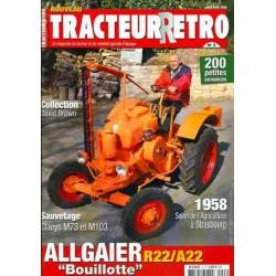 Tracteur Rétro n°2, Allgaier R22, A22 et Bauche GL, PS