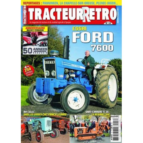 Tracteur Rétro n°18, Ford 7600, Saint Chamond TC25