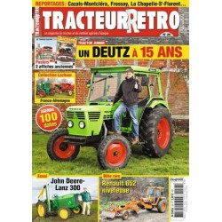 Tracteur Rétro n°26, John Deere Lanz 300, Renault 652, Deutz 5206
