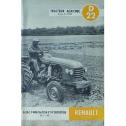 Renault D22, notice d'entretien