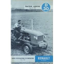 Renault D30, notice d'entretien