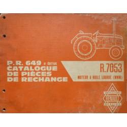 Renault D16, N73, V73, catalogue de pièces