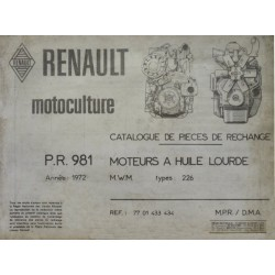 MWM 226, catalogue de pièces