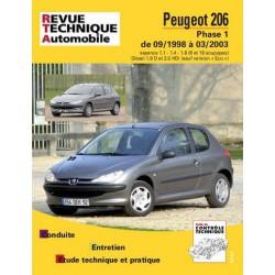 RTA Peugeot 206 phase 1, essence et Diesel