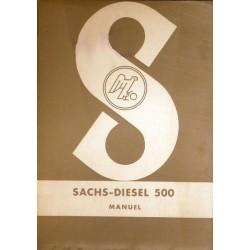 Sachs Diesel 500, notice d'entretien